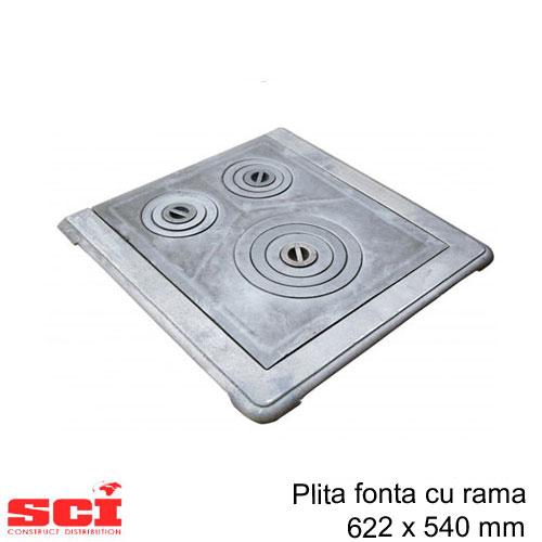 Plita fonta cu rama 622 x 540 mm