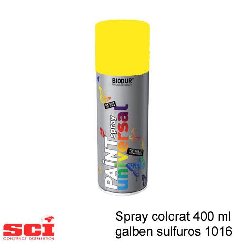 Spray colorat 400 ml galben sulfuros