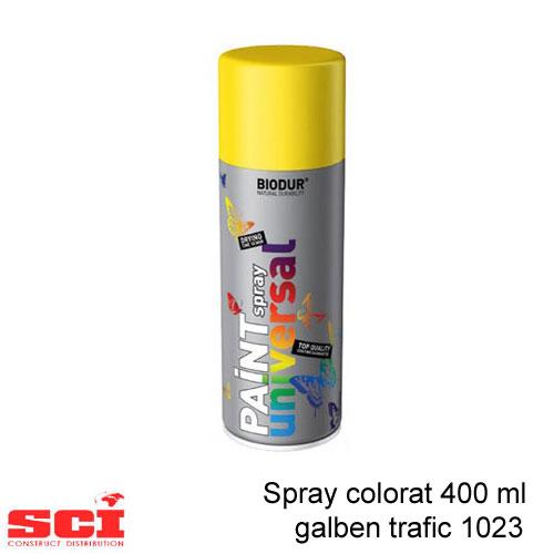 Spray colorat 400 ml galben trafic