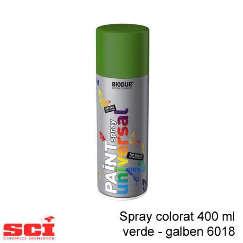 Spray colorat 400 ml verde - galben