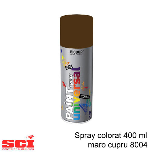 Spray colorat 400 ml maro cupru