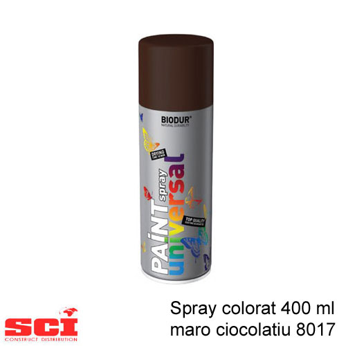 Spray colorat 400 ml maro ciocolatiu