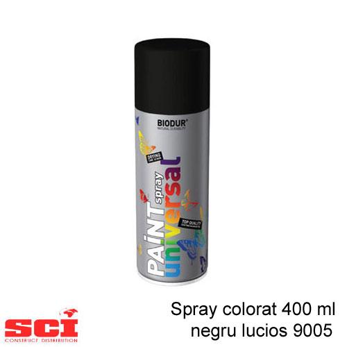 Spray colorat 400 ml negru lucios