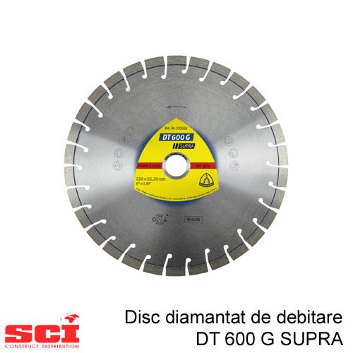 Disc diamantat de debitare Klingspor DT 600 G, 180 x 2,6 x 22,23 mm, 22 Segmente