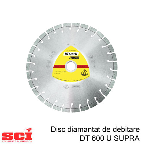 Disc diamantat de debitare Klingspor DT 600 U, 115 x 2,4 x 22,23 mm, 13 Segmente