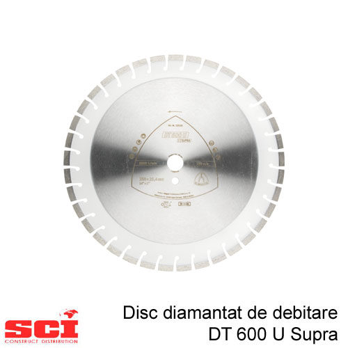 Disc diamantat de debitare Klingspor DT 600 U, 350 x 3 x 30 mm, 37 Segmente