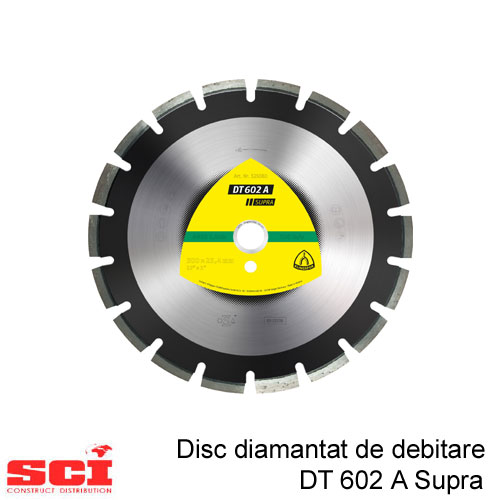 Disc diamantat de debitare Klingspor DT 602 A, 400 x 3,4 x 25,4 mm, 24 Segmente
