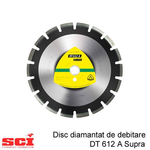 Disc diamantat de debitare Klingspor DT 612 A, 300 x 2,8 x 25,4 mm, 18 Segmente