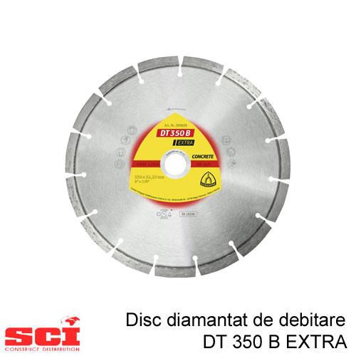 Disc diamantat de debitare Klingspor,  DT 350 B Extra, 230 x 2,6 x 22,23 mm