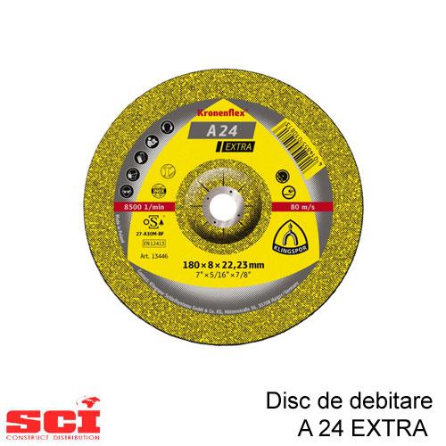 Disc de polizat Klingspor, A 24 Extra, 180 X 6 X 22.23 mm