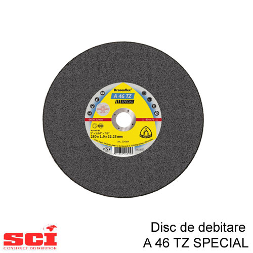 Disc debitare Klingspor, A 46 TZ Special, 230 x 1,9 x 22,23 mm