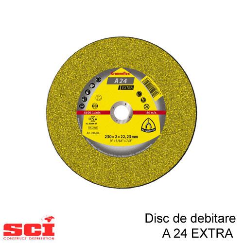 Disc debitare Klingspor, A 24 Extra, 180 X 3 X 22.23 mm