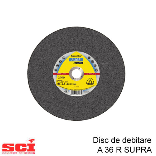 Disc debitare Klingspor, A 36 R Supra, 230 x 2,5 x 22,23 mm