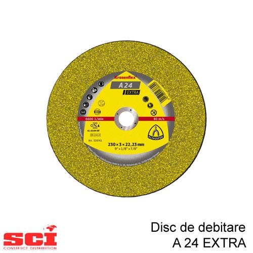 Disc de debitare Klingspor, A 24 Extra, 230 x 3 x 22,23 mm