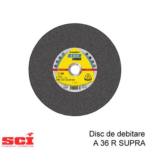 Disc de debitare Klingspor, A 36 R Supra, 230 x 2 x 22,23 mm