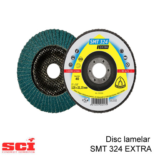 Disc lamelar Klingspor SMT 324, 125 x 22,23 mm granulatie 40