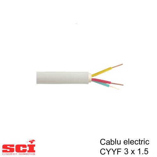 Cablu CYY-F 3 x 1.5 mmp