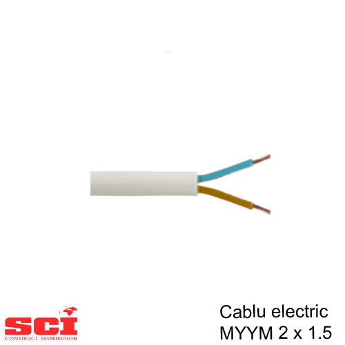 Cablu MYYM 2 x 1.5 mmp