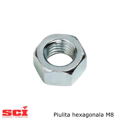 Piulita hexagonala M8