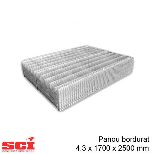 Panou bordurat zincat 4.3 x 1700 x 2500 mm