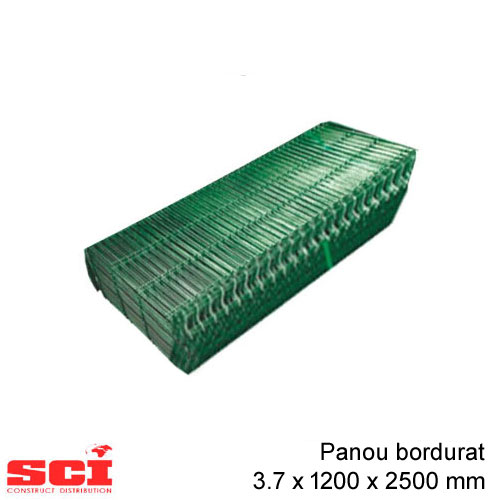 Panou bordurat verde 3.7 x 1200 x 2500 mm