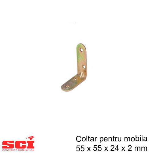 Coltar pentru mobila 55 x 55 x 24 x 2 mm