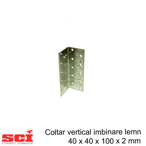 Coltar vertical imbinare lemn 40 x 40 x 100 x 2 mm