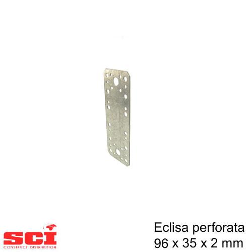 Eclisa perforata imbinare lemn 96 x 35 x 2 mm