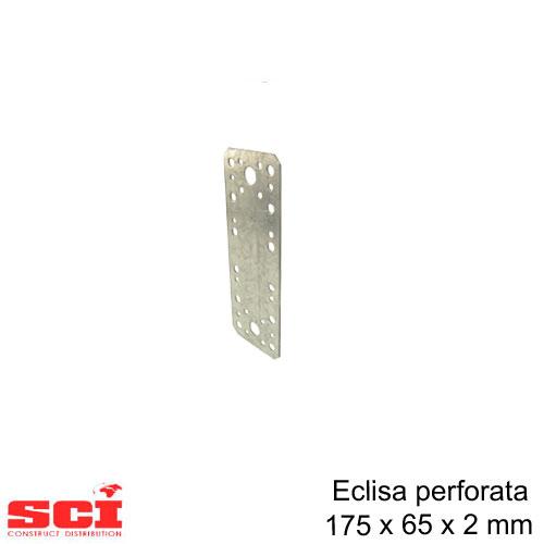 Eclisa perforata imbinare lemn 175 x 65 x 2 mm