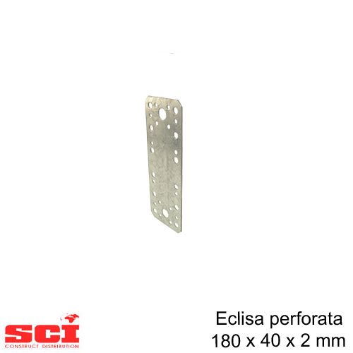 Eclisa perforata imbinare lemn 180 x 40 x 2 mm