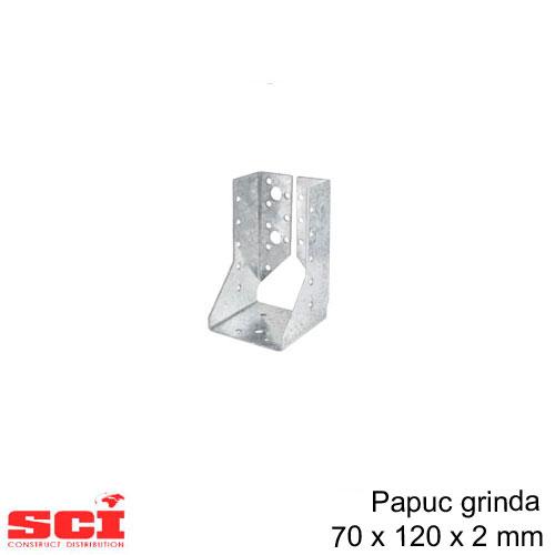 Papuc grinda tip B imbinare lemn 70 x 120 x 2 mm