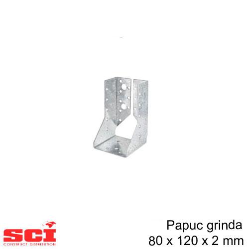Papuc grinda tip B imbinare lemn 76 x 120 x 2 mm