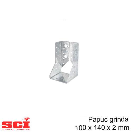 Papuc grinda tip B imbinare lemn 100 x 140 x 2 mm