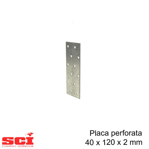 Placa perforata imbinare lemn 40 x 120 x 2 mm