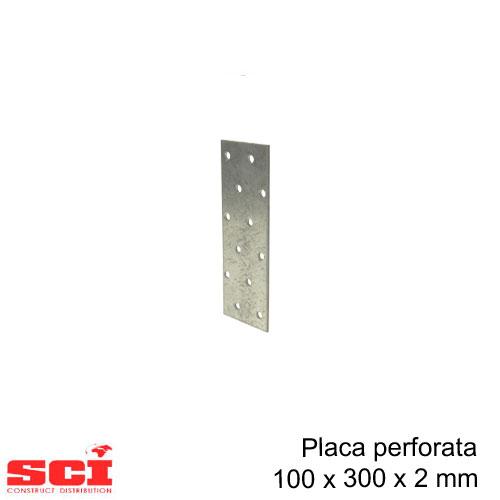 Placa perforata imbinare lemn 100 x 300 x 2 mm