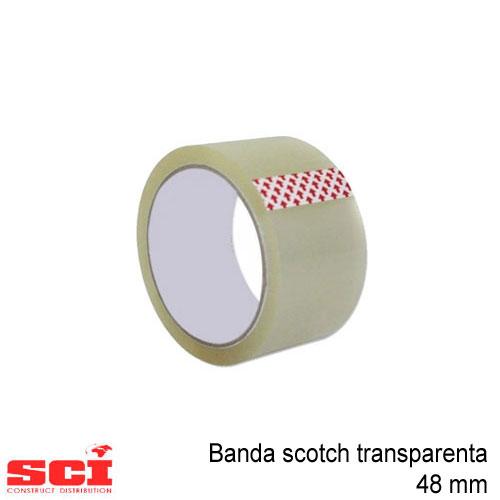 Banda scotch acrilic transparent 48 mm