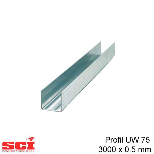 Profil UW 75 3000 x 0.5 mm