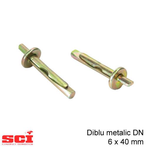 Diblu metalic DN 6 x 40 mm