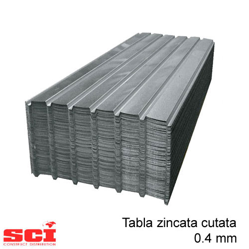 Tabla zincata cutata 0.35 mm