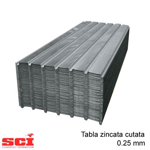 Tabla zincata cutata 0.25 mm