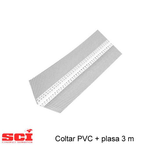 Coltari PVC + plasa 2.5 m x 10 cm