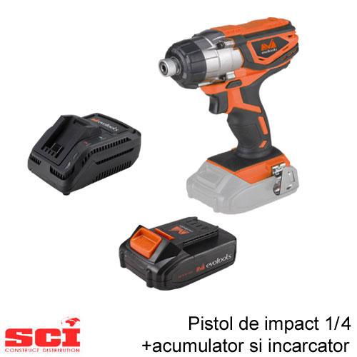 Pachet pistol impact 1/4 + acumulator + incarcator