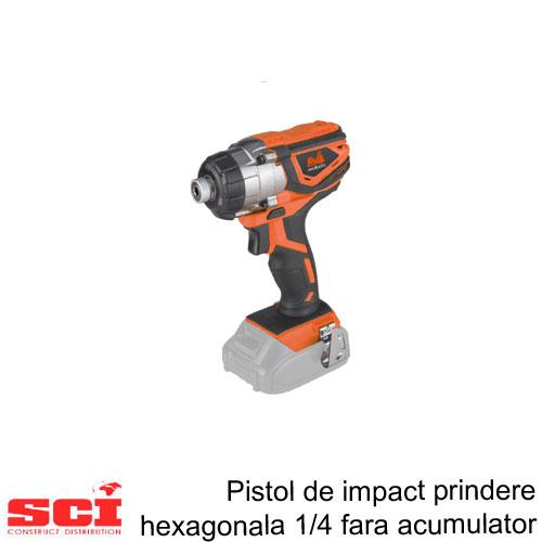 Pistol de Impact Prindere Hexagonala 1/4 fara Acumulator ONE EPTO